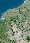 Haute-Normandie Region, France, True Colour Satellite Image. Haute Normandie region, France, true colour satellite image. This image was compiled from data acquired by LANDSAT 5 & 7 satellites. Stock Photo - Premium Rights-Managed, Artist: Universal Images Group, Code: 872-06052779