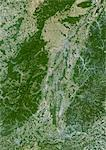 Alsace Region, France, True Colour Satellite Image. Alsace region, France, true colour satellite image. This image was compiled from data acquired by LANDSAT 5 & 7 satellites. Stock Photo - Premium Rights-Managed, Artist: Universal Images Group, Code: 872-06052784