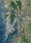Bombay, India, True Colour Satellite Image. Bombay, India. True colour satellite image of the city of Bombay, taken on 25 October 2001,using LANDSAT 7 data. Stock Photo - Premium Rights-Managed, Artist: Universal Images Group, Code: 872-06052849