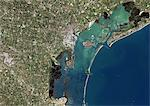 Venice, Italy, True Colour Satellite Image. Venice, France. True colour satellite image of the city of Venice that stretches across numerous small islands in the marshy Venetian Lagoon. Image taken on 26 August 2001 using LANDSAT 7 data. Stock Photo - Premium Rights-Managed, Artist: Universal Images Group, Code: 872-06052953