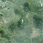 Galunggung Volcano, Java, Indonesia, True Colour Satellite Image. Galunggung, Java, Indonesia, true colour satellite image. Galunggung volcano (2168m) is located in West Java, Indonesia, near the city of Tasikmalaya. Image taken on 22 June 2001 using LANDSAT data. Print size 30 x 30 cm. Stock Photo - Premium Rights-Managed, Artist: Universal Images Group, Code: 872-06053094