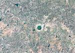 Lonar Meteor Impact Crater, India, True Colour Satellite Image. True colour satellite image of Lonar impact structure, India (diameter : 1,83 km). Image taken on 4 November 1992 using LANDSAT data. Stock Photo - Premium Rights-Managed, Artist: Universal Images Group, Code: 872-06053127