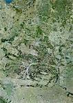 Belarus, Europe, True Colour Satellite Image With Border. Satellite view of Belarus (with border). This image was compiled from data acquired by LANDSAT 5 & 7 satellites. Stock Photo - Premium Rights-Managed, Artist: Universal Images Group, Code: 872-06053155