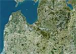 Latvia, Europe, True Colour Satellite Image With Border. Satellite view of Latvia (with border). This image was compiled from data acquired by LANDSAT 5 & 7 satellites. Stock Photo - Premium Rights-Managed, Artist: Universal Images Group, Code: 872-06053201