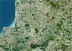 Lithuania, Europe, True Colour Satellite Image With Border. Satellite view of Lithuania (with border). This image was compiled from data acquired by LANDSAT 5 & 7 satellites. Stock Photo - Premium Rights-Managed, Artist: Universal Images Group, Code: 872-06053205