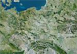 Poland, Europe, True Colour Satellite Image With Border. Satellite view of Poland (with border). This image was compiled from data acquired by LANDSAT 5 & 7 satellites. Stock Photo - Premium Rights-Managed, Artist: Universal Images Group, Code: 872-06053229