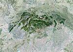 Slovakia, Europe, True Colour Satellite Image With Border And Mask. Satellite view of Slovakia (with border and mask). This image was compiled from data acquired by LANDSAT 5 & 7 satellites. Stock Photo - Premium Rights-Managed, Artist: Universal Images Group, Code: 872-06053239