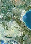 Laos, Asia, True Colour Satellite Image With Border. Satellite view of Laos (with border). This image was compiled from data acquired by LANDSAT 5 & 7 satellites. Stock Photo - Premium Rights-Managed, Artist: Universal Images Group, Code: 872-06053295