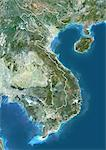Vietnam, Asia, True Colour Satellite Image With Border. Satellite view of Vietnam (with border). This image was compiled from data acquired by LANDSAT 5 & 7 satellites. Stock Photo - Premium Rights-Managed, Artist: Universal Images Group, Code: 872-06053326