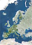 Satellite View of Europe featuring Countries of Eurozone, 2008 Stock Photo - Premium Rights-Managed, Artist: Universal Images Group, Code: 872-06053565