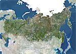 Russia, True Colour Satellite Image With Mask. Russia, true colour satellite image with mask. Composite image using data from LANDSAT 5 & 7satellites. Stock Photo - Premium Rights-Managed, Artist: Universal Images Group, Code: 872-06054045