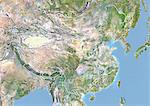 China, Satellite Image With Bump Effect, With Border Stock Photo - Premium Rights-Managed, Artist: Universal Images Group, Code: 872-06054223