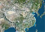 China, True Colour Satellite Image With Border Stock Photo - Premium Rights-Managed, Artist: Universal Images Group, Code: 872-06054225