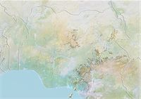 Nigeria, Relief Map With Border Stock Photo - Premium Rights-Managednull, Code: 872-06054626