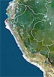 Peru, True Colour Satellite Image With Border Stock Photo - Premium Rights-Managed, Artist: Universal Images Group, Code: 872-06054668
