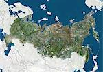 Russia, True Colour Satellite Image With Border and Mask Stock Photo - Premium Rights-Managed, Artist: Universal Images Group, Code: 872-06054699
