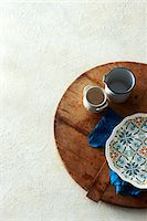 Mediterranean Themed Dishes on Wooden Cutting Board Stock Photo - Premium Rights-Managednull, Code: 700-06059669