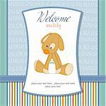 baby shower card with dog Stock Photo - Royalty-Free, Artist: balasoiu                      , Code: 400-06060628