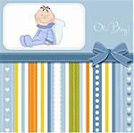 delicate baby boy shower card Stock Photo - Royalty-Free, Artist: balasoiu                      , Code: 400-06060654