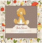 baby shower card with dog Stock Photo - Royalty-Free, Artist: balasoiu                      , Code: 400-06060662