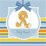 baby shower card with dog Stock Photo - Royalty-Free, Artist: balasoiu                      , Code: 400-06060666