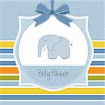 delicate baby boy shower card Stock Photo - Royalty-Free, Artist: balasoiu                      , Code: 400-06060676