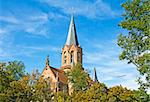 Protestant church in Karlsruhe, Baden-Wuerttemberg, Germany Stock Photo - Royalty-Free, Artist: blackosaka                    , Code: 400-06060724