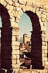 View between Aqueduct arches - Segovia, Spain Stock Photo - Royalty-Free, Artist: benkrut                       , Code: 400-06060761