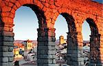 Aqueduct in Segovia during sunset Stock Photo - Royalty-Free, Artist: benkrut                       , Code: 400-06060765
