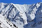 winter mountain landscape with a blue sky, Fagaras Mountains, Romania Stock Photo - Royalty-Free, Artist: porojnicu                     , Code: 400-06064459