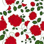 Seamless vector floral pattern. For easy making seamless pattern just drag all group into swatches bar, and use it for filling any contours. Stock Photo - Royalty-Free, Artist: angelp                        , Code: 400-06066420
