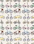 seamless bicycle pattern  Stock Photo - Royalty-Free, Artist: notkoo2008                    , Code: 400-06066527