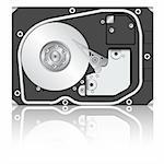 Computer hard disk drive. Vector illustration. Stock Photo - Royalty-Free, Artist: aarrows                       , Code: 400-06066994