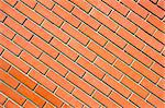 Freshly built brick wall, diagonal pattern Stock Photo - Royalty-Free, Artist: ximinez                       , Code: 400-06067787