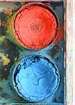 Very old used water color paint box top down view Stock Photo - Royalty-Free, Artist: Danicek                       , Code: 400-06067950