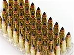 Closeup of hunting bullets for hunting carbine. Stock Photo - Royalty-Free, Artist: svetlanna                     , Code: 400-06068357