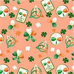 Trefoil seamless st. Patrick?s Day background. Stock Photo - Royalty-Free, Artist: tatianat                      , Code: 400-06068450