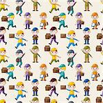 Express delivery people seamless pattern Stock Photo - Royalty-Free, Artist: notkoo2008                    , Code: 400-06068556