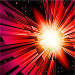 Beautiful Abstract Backdrop Effect of Red Radiance Stock Photo - Royalty-Free, Artist: dvarg                         , Code: 400-06069035