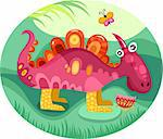 vector illustration of a cute dragon Stock Photo - Royalty-Free, Artist: nem4a                         , Code: 400-06069787