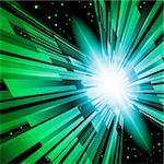 Beautiful Abstract Backdrop Effect of Green Radiance Stock Photo - Royalty-Free, Artist: dvarg                         , Code: 400-06070352