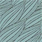 vector seamless pattern with funky leaves Stock Photo - Royalty-Free, Artist: alexmakarova                  , Code: 400-06071065