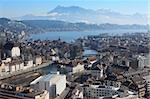 Photo of the cityscape of Lucerne, Switzerland.  Photo taken in the winter. Stock Photo - Royalty-Free, Artist: sumners                       , Code: 400-06072319
