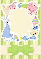pregnant nipples - Children postcard with a bow vector illustration Stock Photo - Royalty-Freenull, Code: 400-06072762