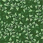 Vector abstract ivy seamless repeat pattern background Stock Photo - Royalty-Free, Artist: 100ker                        , Code: 400-06073437