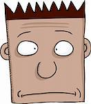 Cartoon of worried person with spiked hair over white background Stock Photo - Royalty-Free, Artist: theblackrhino                 , Code: 400-06073545