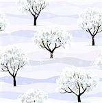 winter garden tree snow covered seamless background Stock Photo - Royalty-Free, Artist: 100ker                        , Code: 400-06073597
