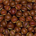 vector seamless brown chestnut snack background pattern Stock Photo - Royalty-Free, Artist: 100ker                        , Code: 400-06073607