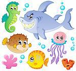 Sea fishes and animals collection 4 - vector illustration. Stock Photo - Royalty-Free, Artist: clairev                       , Code: 400-06073764
