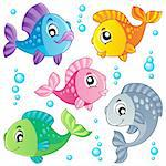 Various cute fishes collection 3 - vector illustration. Stock Photo - Royalty-Free, Artist: clairev                       , Code: 400-06073767